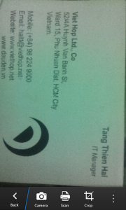 Cách sử dụng ứng dụng Business Card Reader XT (Nguồn: http://blackberryvietnam.net/threads/business-card-reader-xt-phan-mem-scan-card-va-tu-dong-tao-account-cho-bb10.15238/)