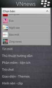 Ứng dụng VNnews (Nguồn: http://blackberryvietnam.net/threads/vnnews-doc-bao-viet-tren-blackberry-10.14793/)